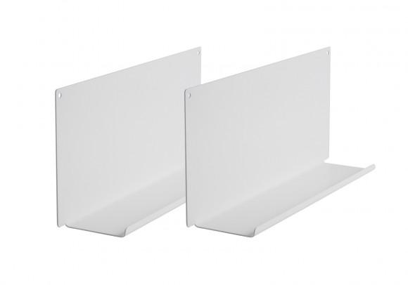 """Étagère modulable """"LE"""" - Lot de 2 - 45cm - Acier - Blanc"""