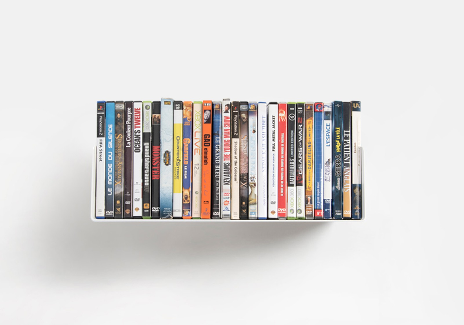 Wall To Wall Shelves dvd wall shelf usdvd - 45 cm