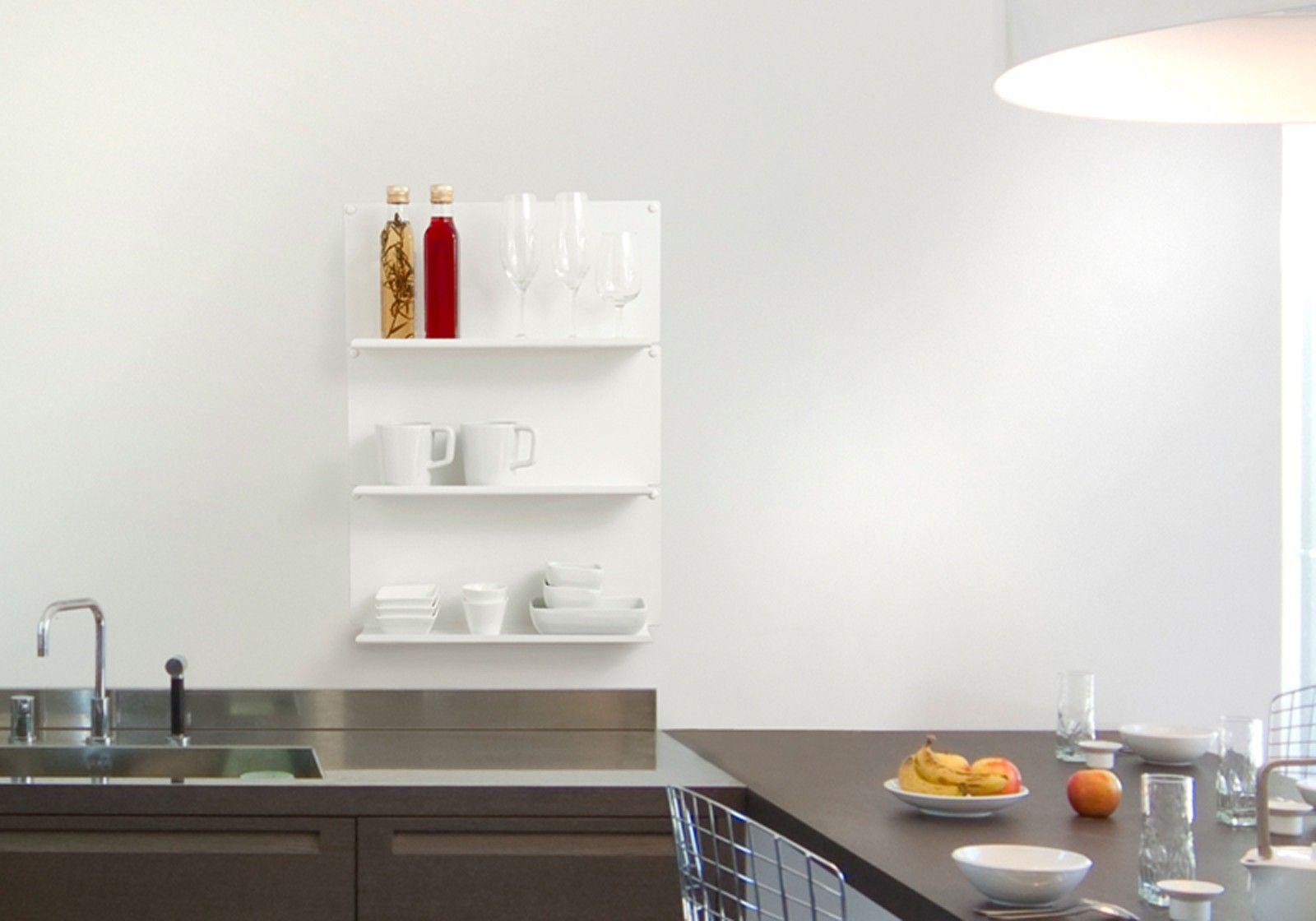 Tag re pour la cuisine le ot de 2 45x15 cm acier - Etagere pour livre de cuisine ...