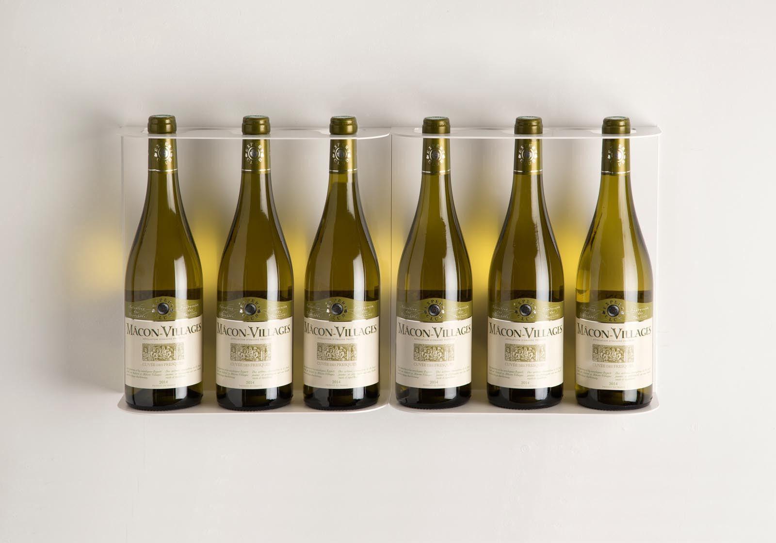 Range bouteille TEEwine - Lot de 2 blanc