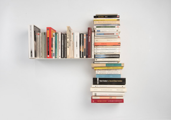 Asymmetrical Bookshelf Left 60x60 cm