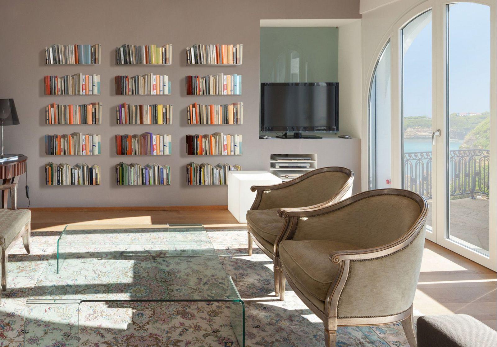 tag re pour livre us 45 cm acier. Black Bedroom Furniture Sets. Home Design Ideas