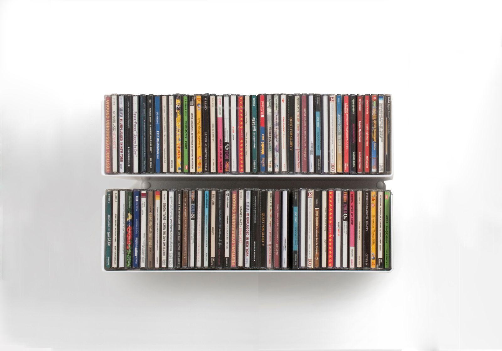 Cd shelves set of 2 uscd - Scaffali porta cd ...