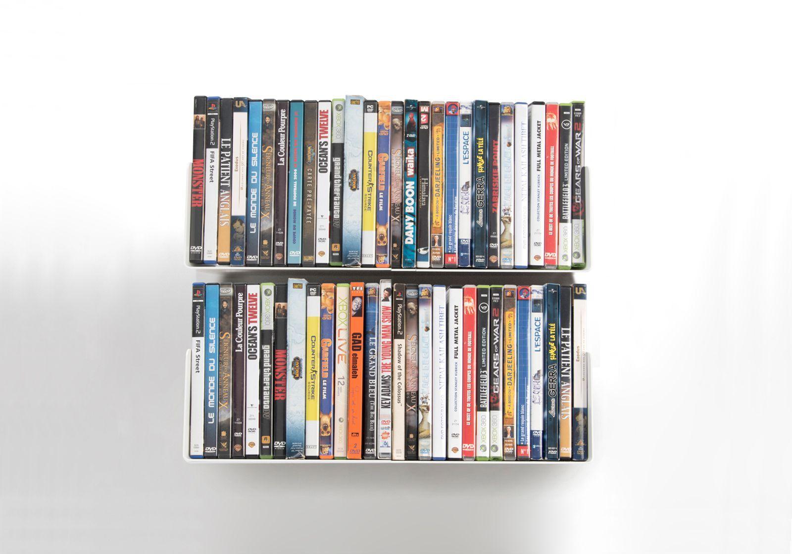 Étagère range DVD USDVD - Lot de 2
