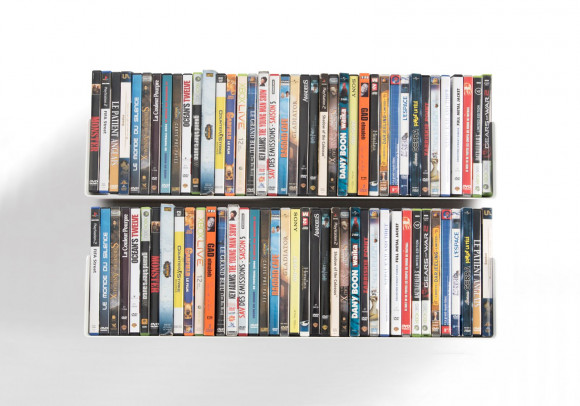 Set Of 2 UDVD   DVD Shelves