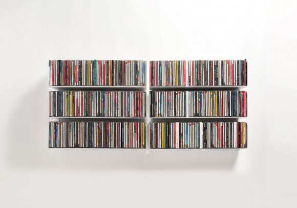 CD Wall Shelf 45 x 15 cm - Set of 6