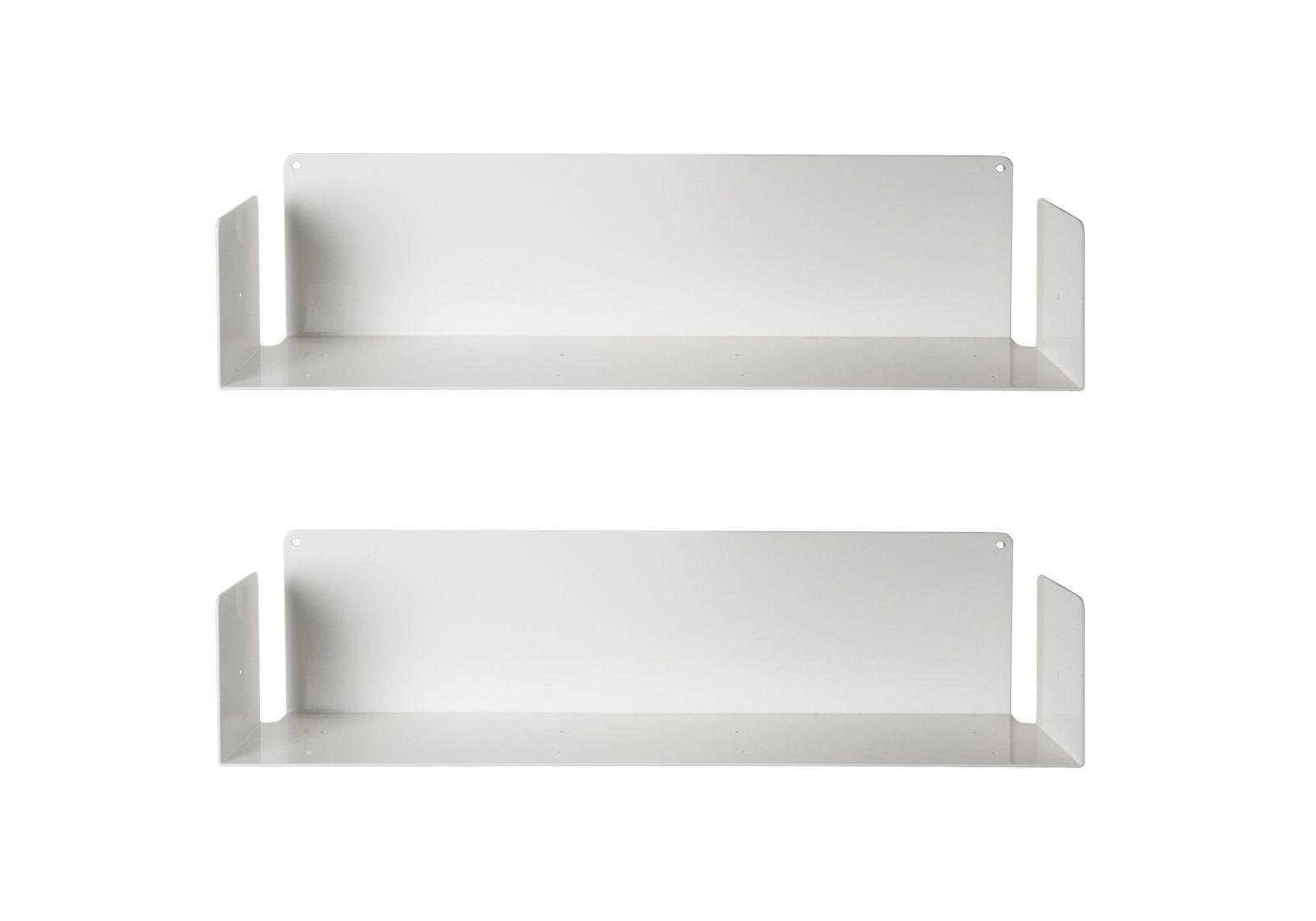 tag re pour livre u 60 cm lot de 2 acier. Black Bedroom Furniture Sets. Home Design Ideas