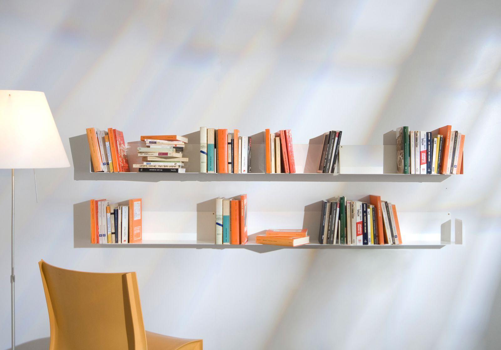 tag re pour livre u 60 cm lot de 4 acier. Black Bedroom Furniture Sets. Home Design Ideas