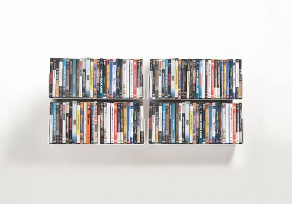 Porta DVD  45 cm - Set di 4