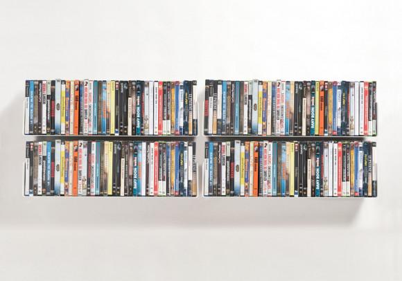 Porta DVD 60 cm - Set di 4