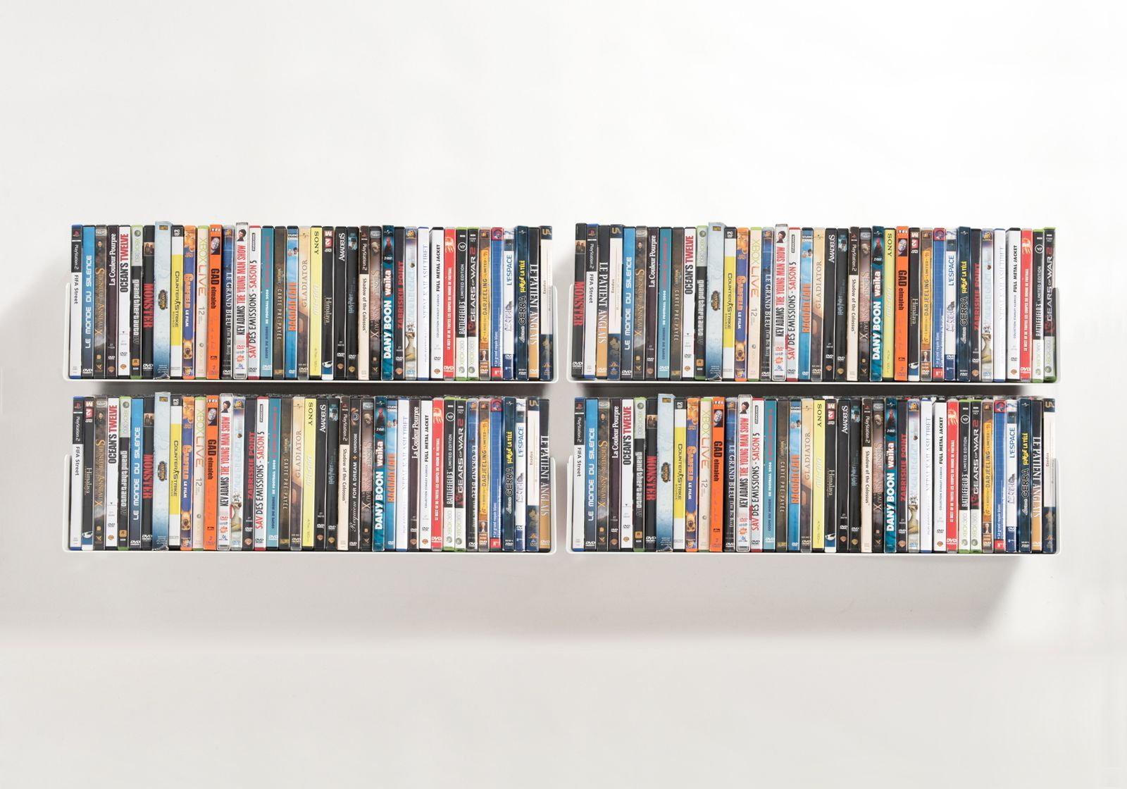 Set mit 4 UDVD - DVD-Regalen