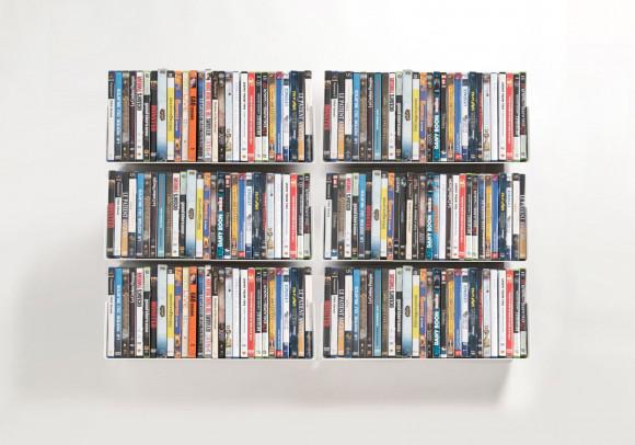 Étagère range DVD USDVD - Lot de 6 - 45 cm - Acier