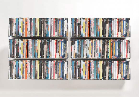 DVD Wall Shelf 60 x 15 cm - Set of 6