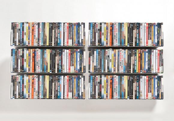 Mensole porta DVD - Set di 6 - 60 cm - Acciaio