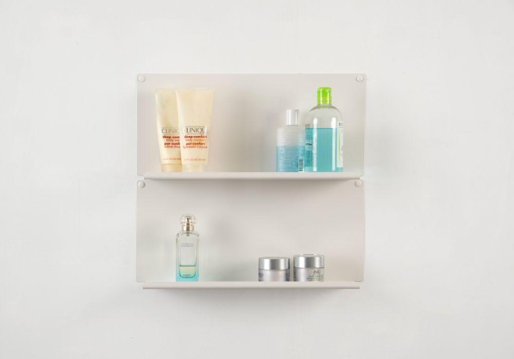 Tag re pour salle de bain le lot de 2 45 x10 cm - Etagere pour livre de cuisine ...