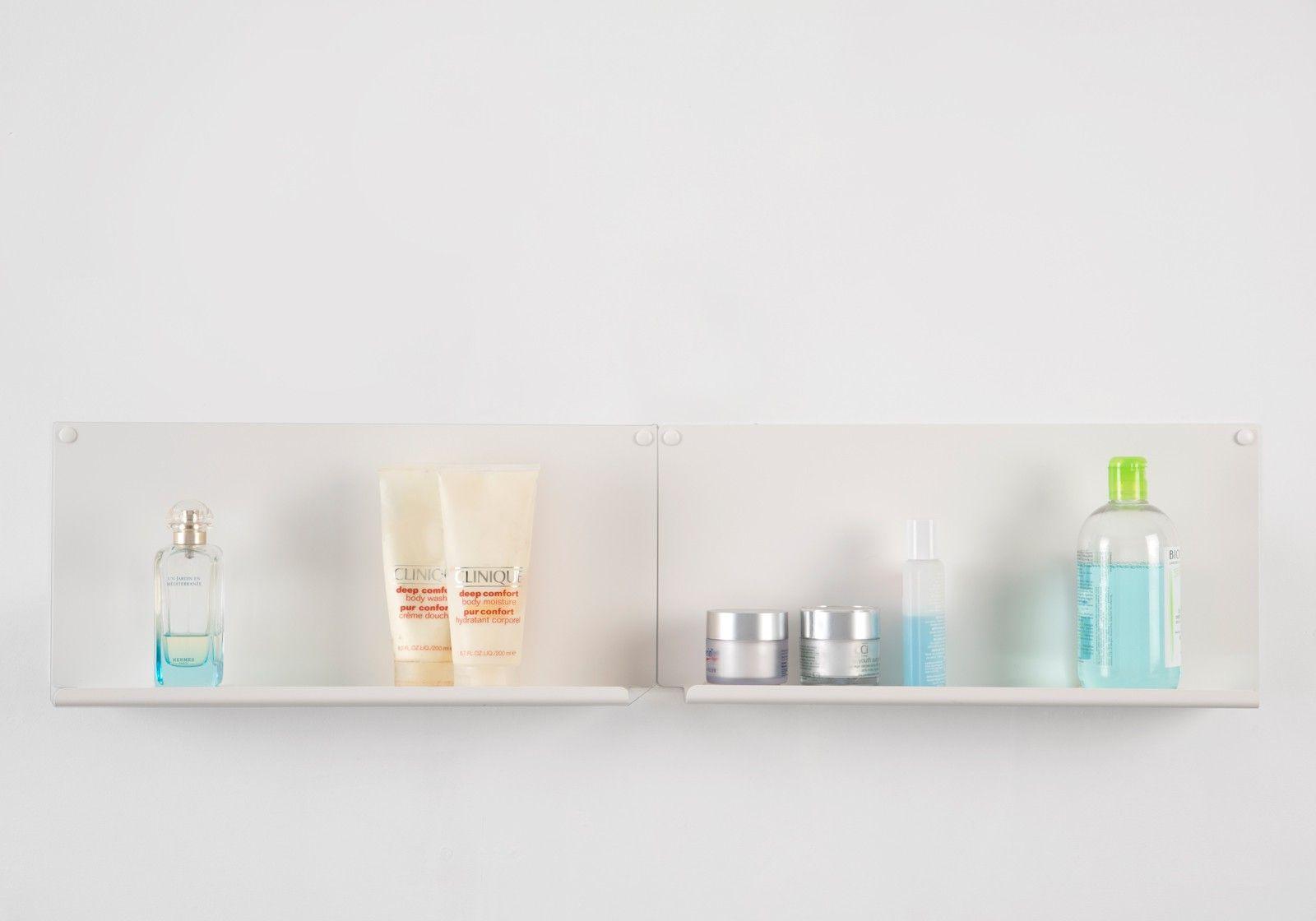 Tapis Salle De Bain Tigre Geant ~  tag re pour salle de bain le lot de 2 45 x10 cm acier blanc