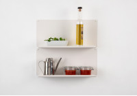 "Set of 2 Kitchen wall shelves ""LE"" horizontal"