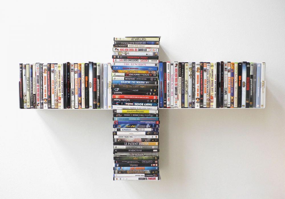 "Étagère range DVD ""TUS"""