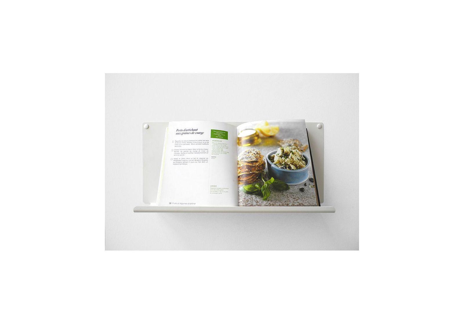 Tag re pour la cuisine le 45x10 cm acier blanc - Etageres pour cuisine ...