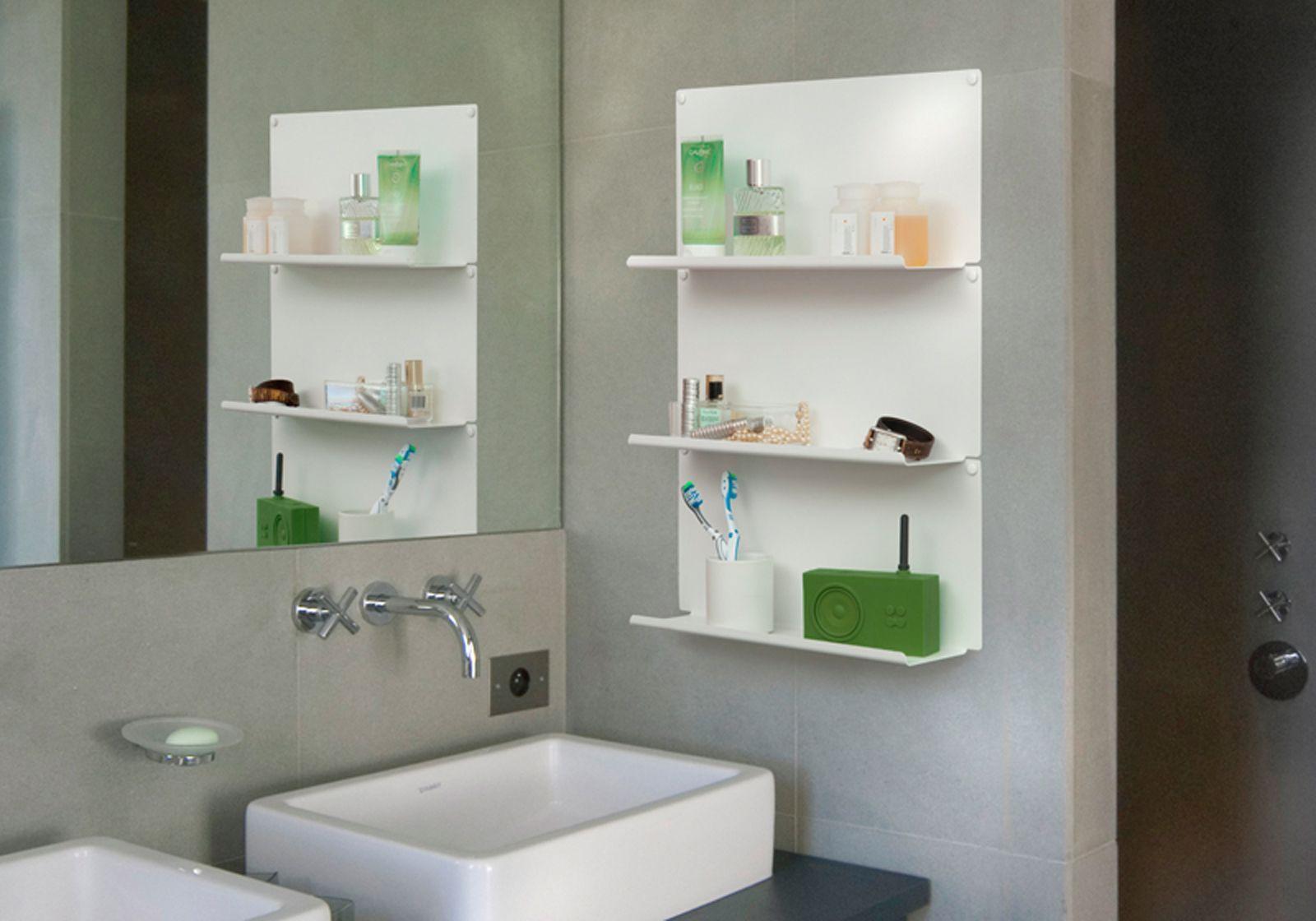 Mensole per bagno le 10 cm acciao bianco - Mensole bagno design ...