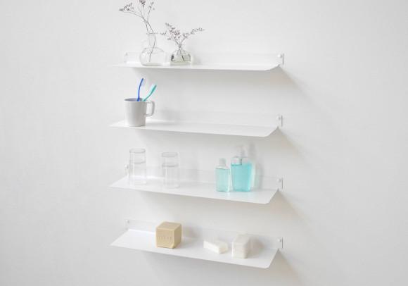 Étagère salle de bain TEEline - 60 cm - Lot de 4