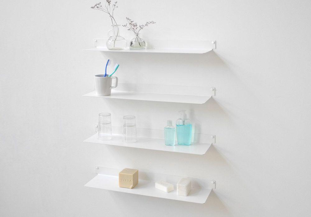 Mensole per bagno teeline 60 cm set di 4 acciao for Mensole bagno design