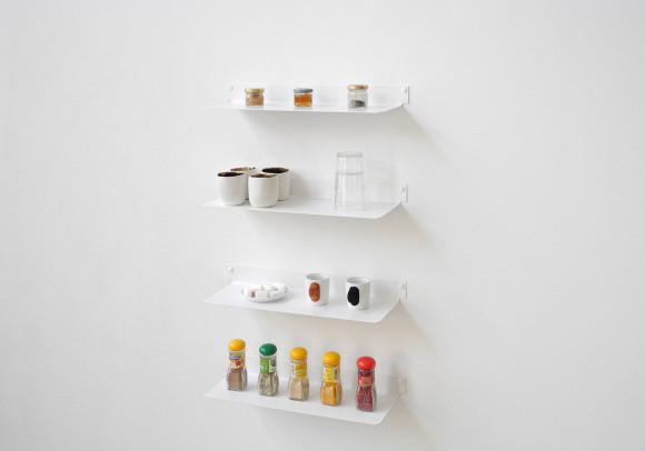 Estantes de pared para cocina 45 cm - Juego de 4