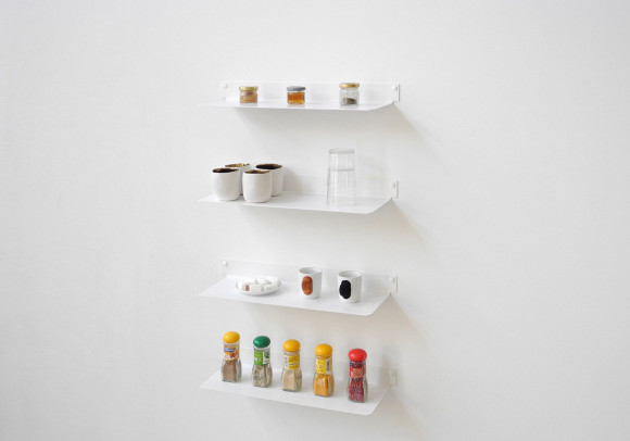 Mensole per cucina TEEline 45 cm - Set di 4 - Acciaio