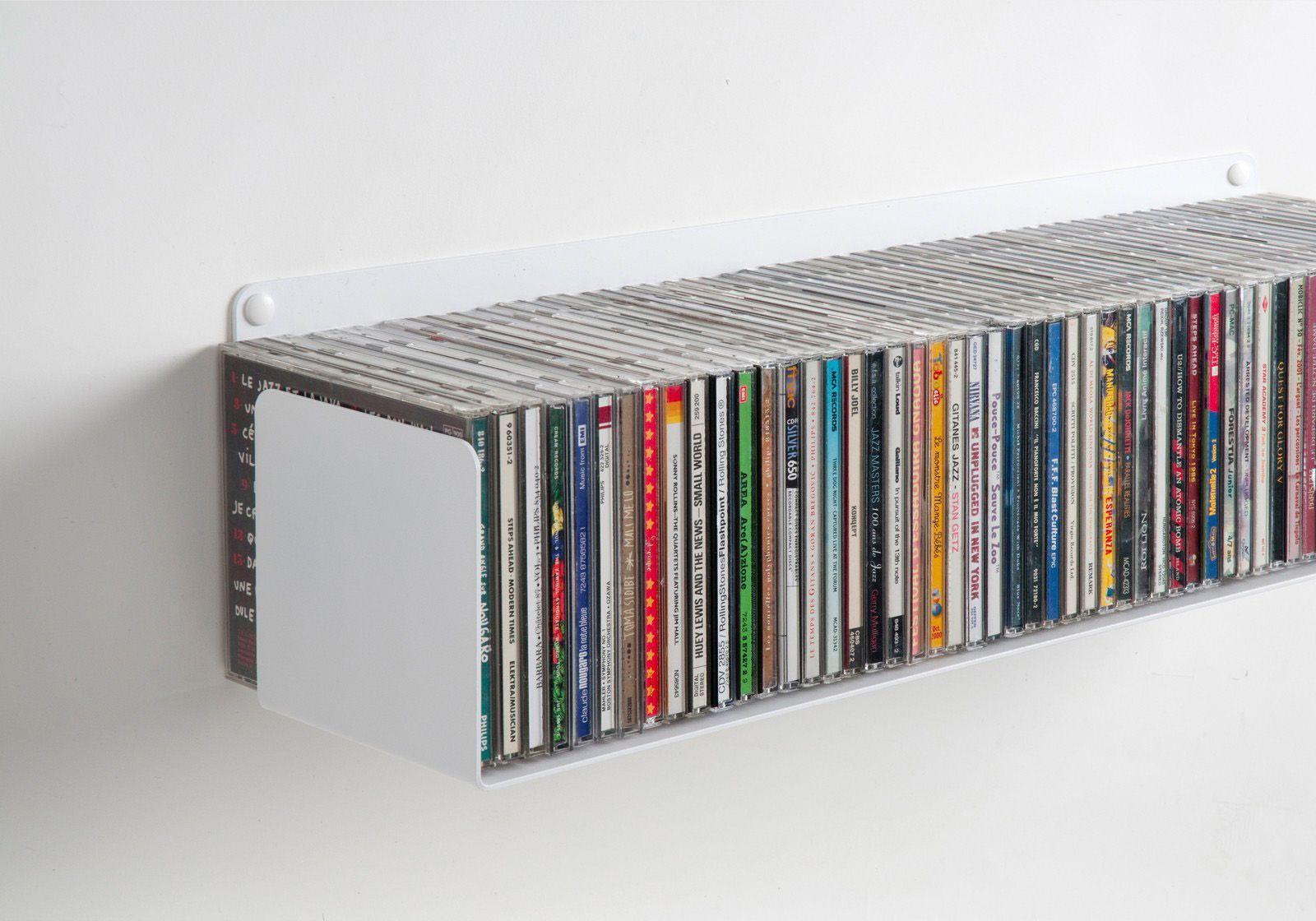 Mensola porta cd set di 4 60 cm acciao for Mensole porta quadri