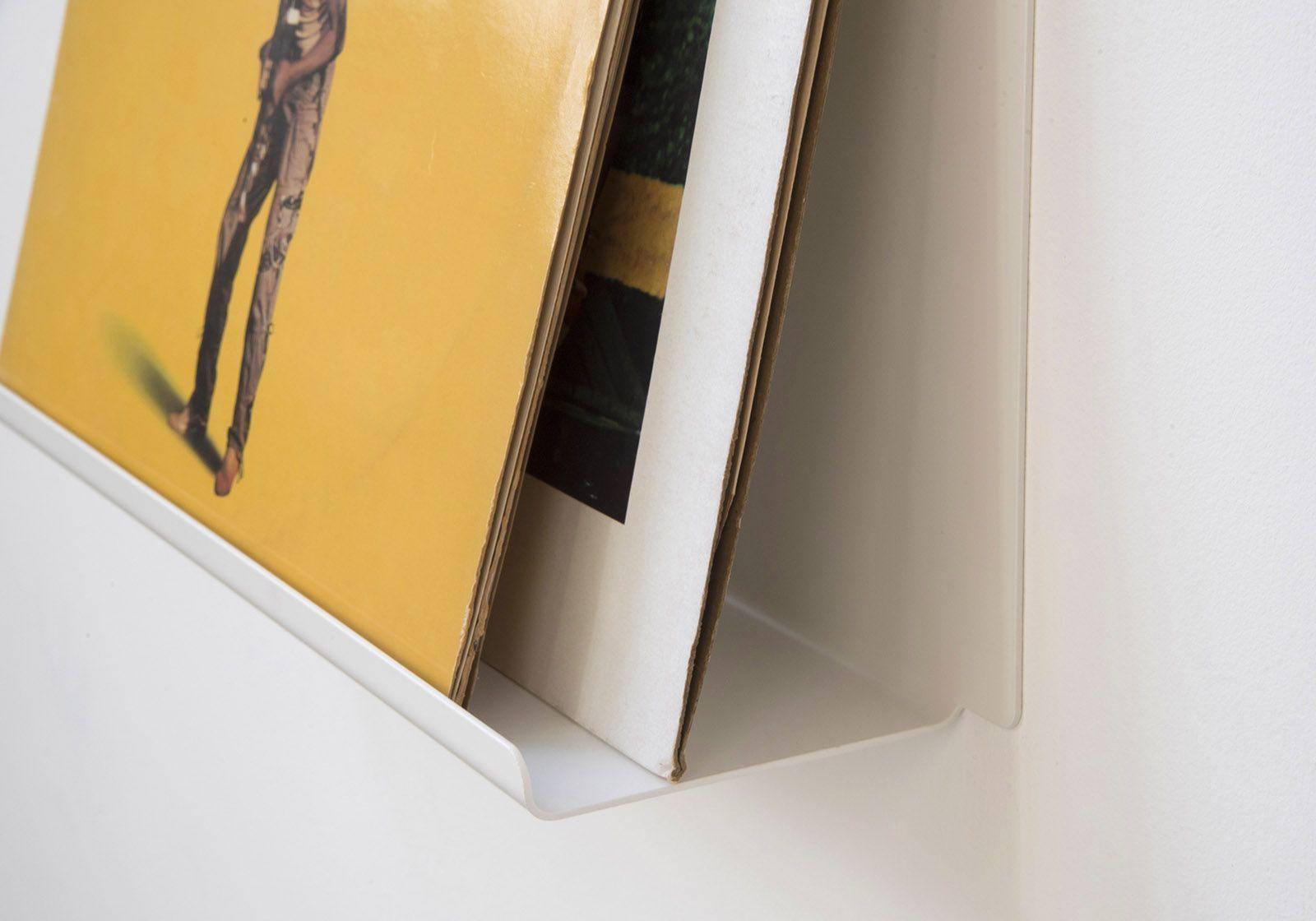Scaffale espositore per vinili le 45 cm acciao bianco - Scaffali porta cd ...