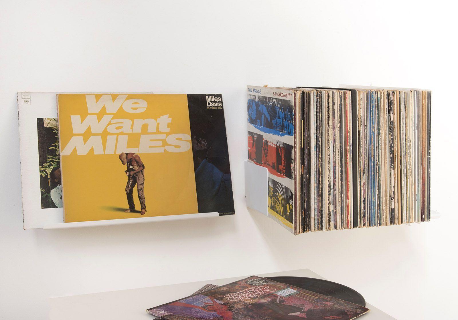 Scaffale espositore per vinili set di 2 45 cm - Scaffali porta cd ...