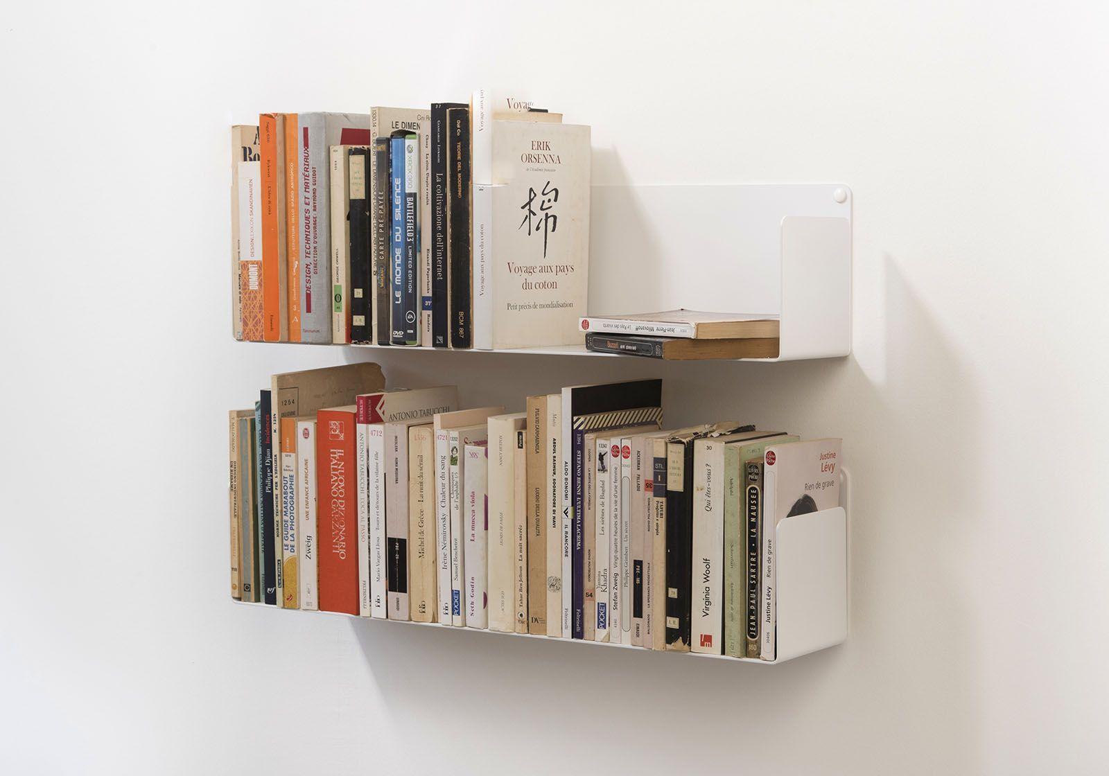 Scaffali Per Libri Design.Mensole Per Libri U Set Di 2 60 Cm Acciao