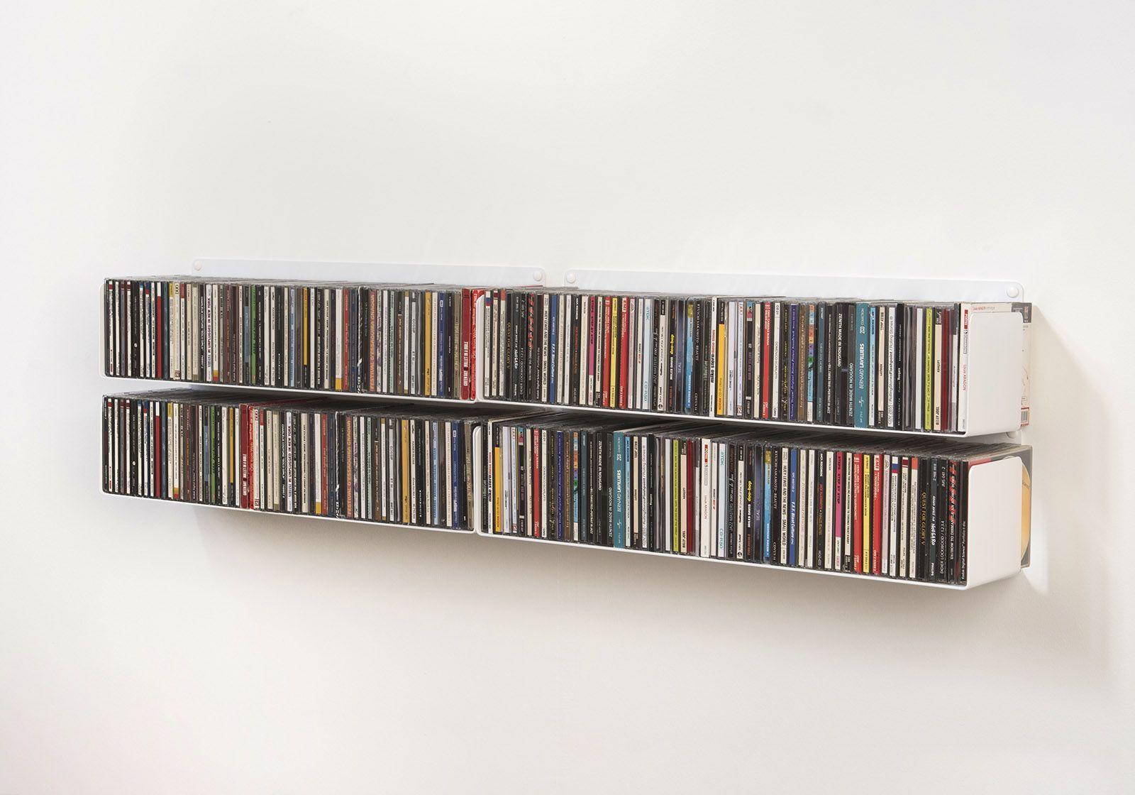 Tag re range cd ucd lot de 4 60 cm acier - Etagere range cd ...