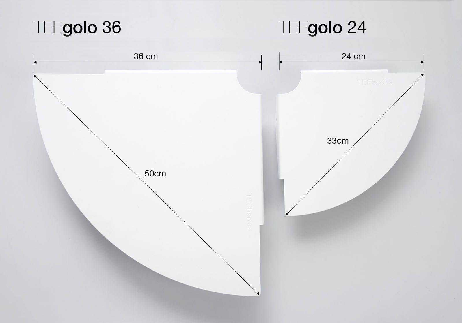 Corner Shelf Teegolo 24cm Set Of 2 Shelves