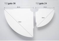 Set mit 2 Eckregal TEEgolo 36cm