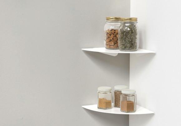 Mensole per cucina TEEgolo 24 cm - Set di 2 - Acciaio