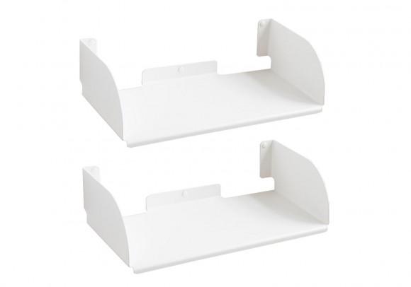 """Étagère modulable """"UBD"""" - Lot de 2 - 45 cm - Acier - Blanc"""