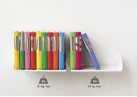 """Étagère pour livre """"UBD"""" - Lot de 6 - 45 cm - Acier - Jusqu'à 40 kg"""