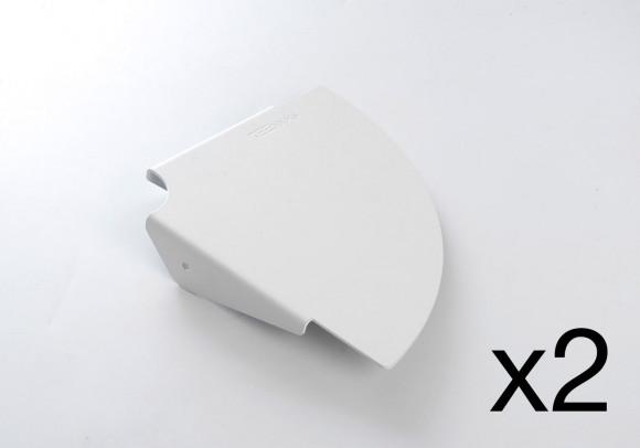 Mensola angolare TEEgolo 24 cm - Set di 2 - Acciao