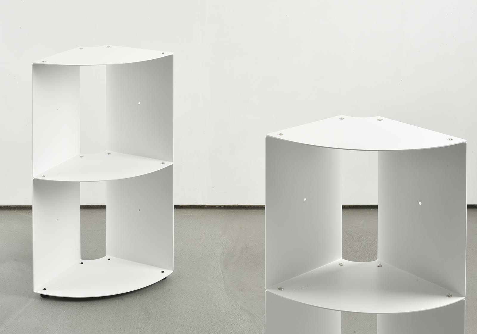 Mensole d\'angolo per cucina DANgolo - Acciaio - 25x25x70cm