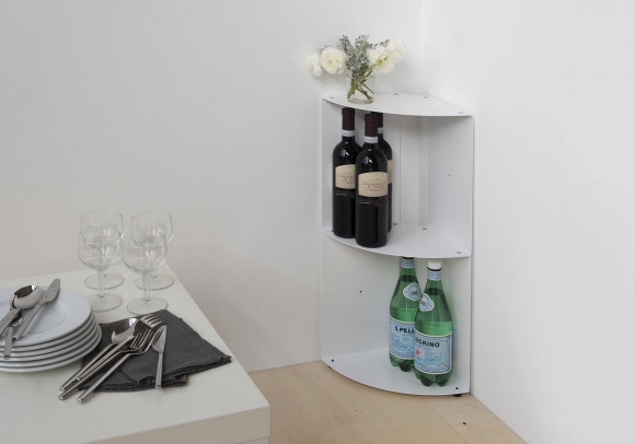 Kitchen corner shelf DANgolo - Steel - 25x25x70cm