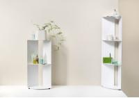 Mensole d'angolo per bagno DANgolo - Acciaio - 25x25x70cm