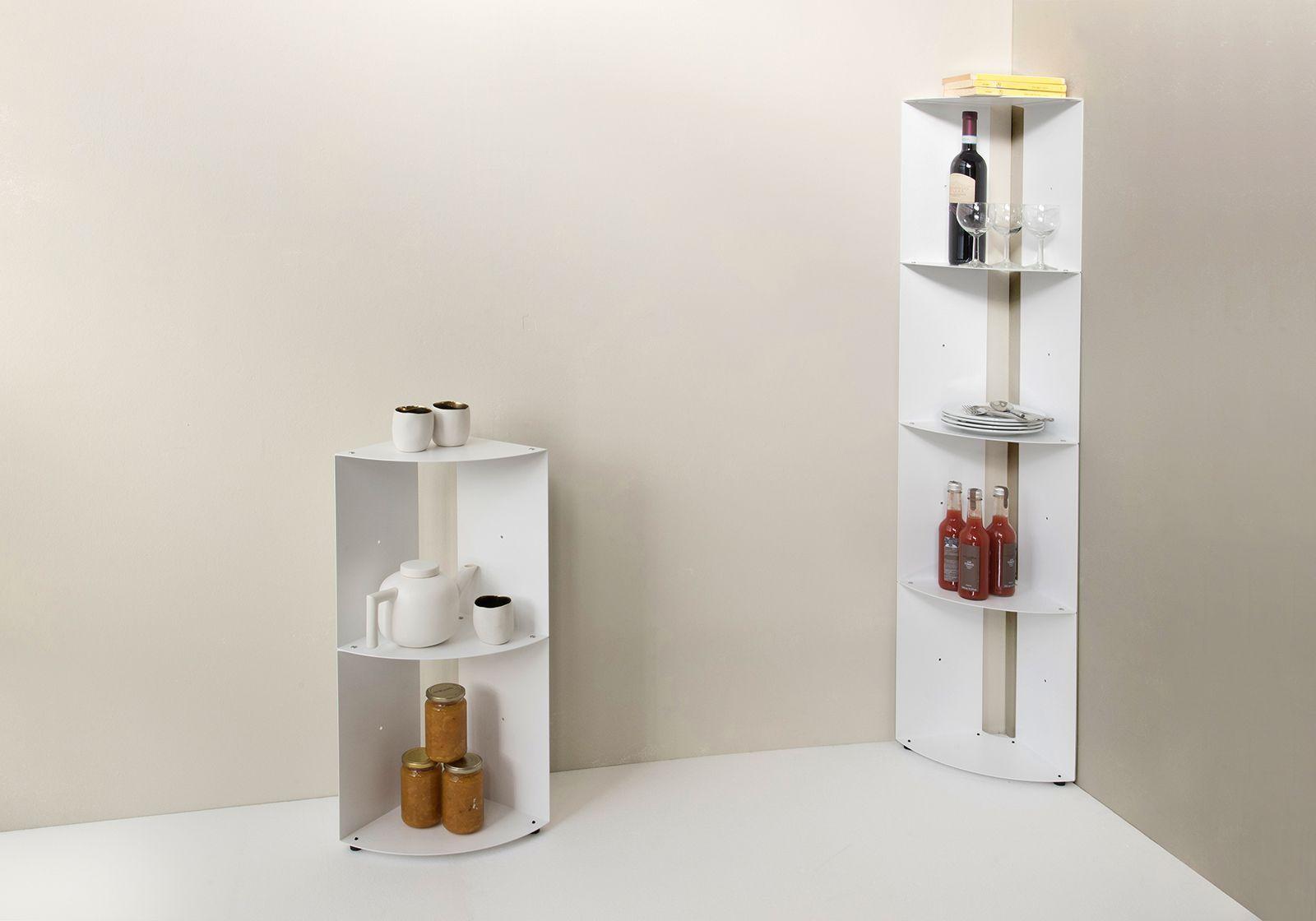 angolare per cucina DANgolo - Acciaio - 25x25x70cm