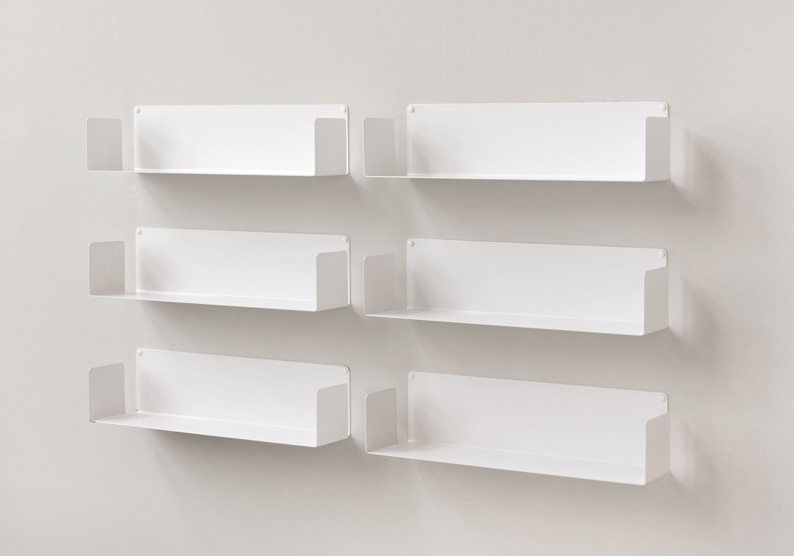 """Libreria Profondità 15 Cm mensola modulare """"u"""" - 60 cm - set di 6 - acciao"""