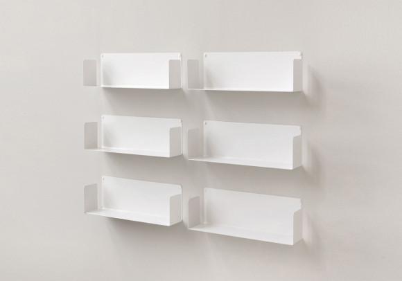"""Mensola modulare """"US"""" - 45 cm - Set di 6 - Acciao"""