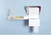 Toilet oll holder TEElette - Steel - White - 37,5x15x22cm