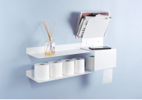 Toilet oll holder TEElette - Steel - White - 14,7x5,9x8,6 inch
