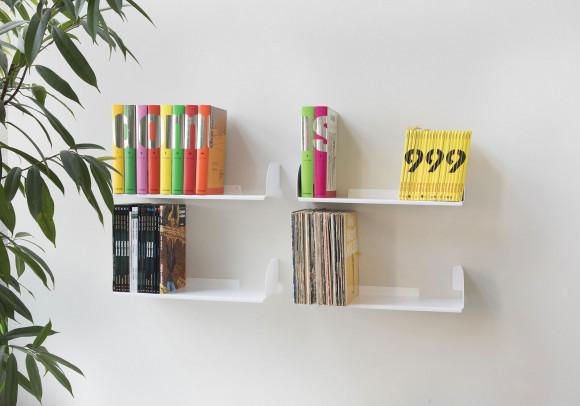 """Étagère pour livre """"UBD"""" - Lot de 4 - 45 cm - Acier - Jusqu'à 40 kg"""