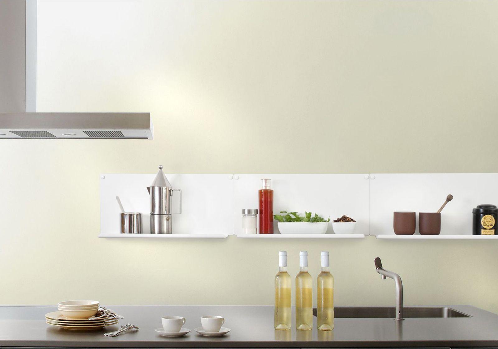 Tag re pour la cuisine le ot de 2 45x10 cm acier for Etageres murales pour cuisine