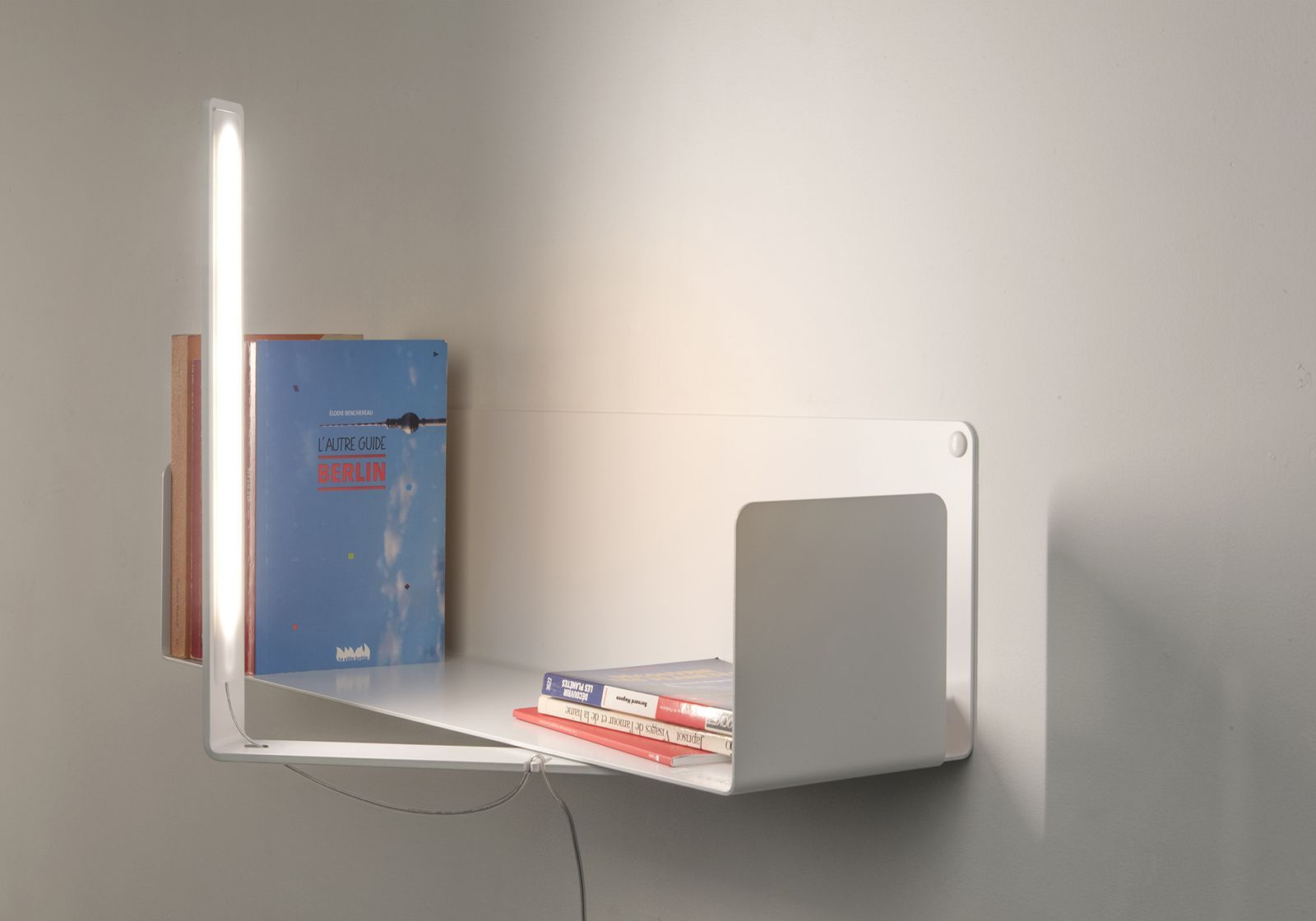 Led wall light white steel